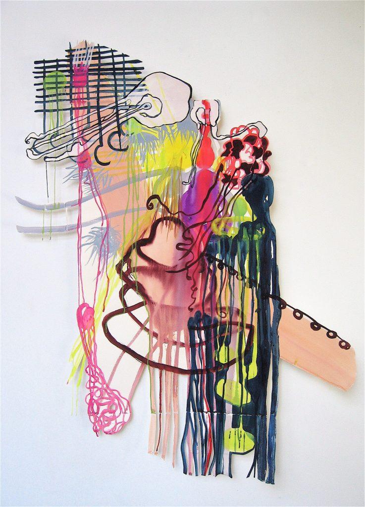 gouache sur papier découpé 170 x 140 cm, 2006