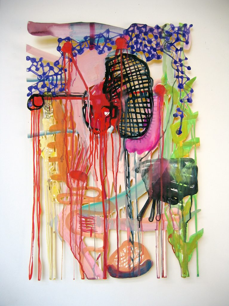 Gouache sur papier découpé, 120 x 80 cm 2006