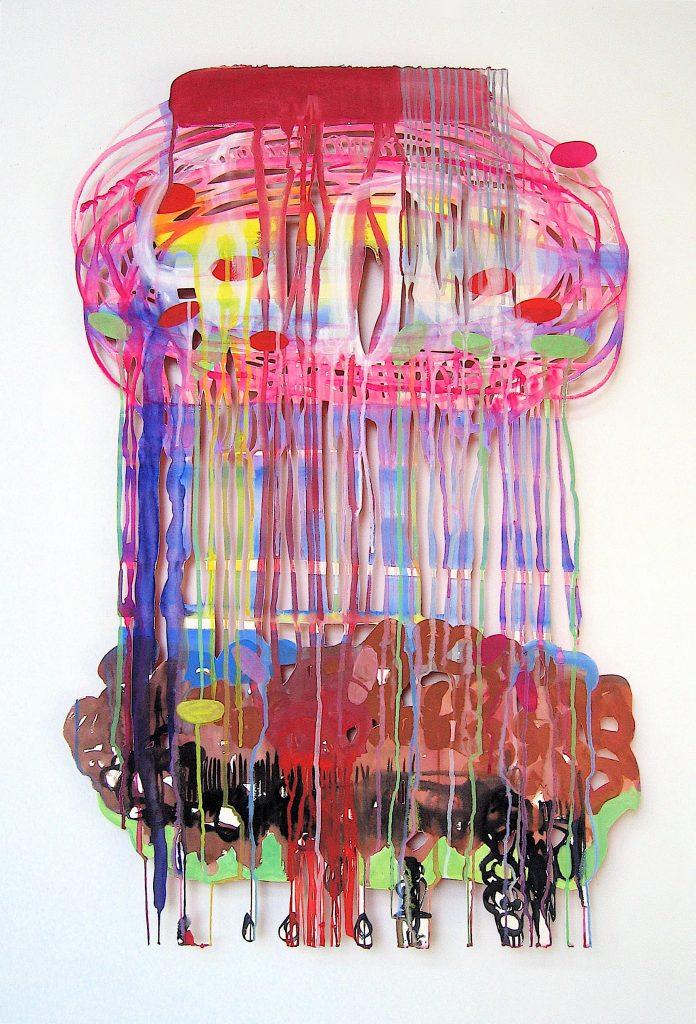 Acrylique et gouache recto - verso sur papier découpé 120 x 80 cm 2006